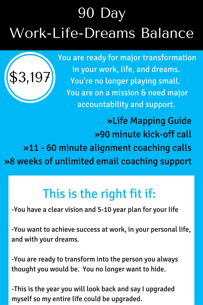 90 day Work Life dreams balance
