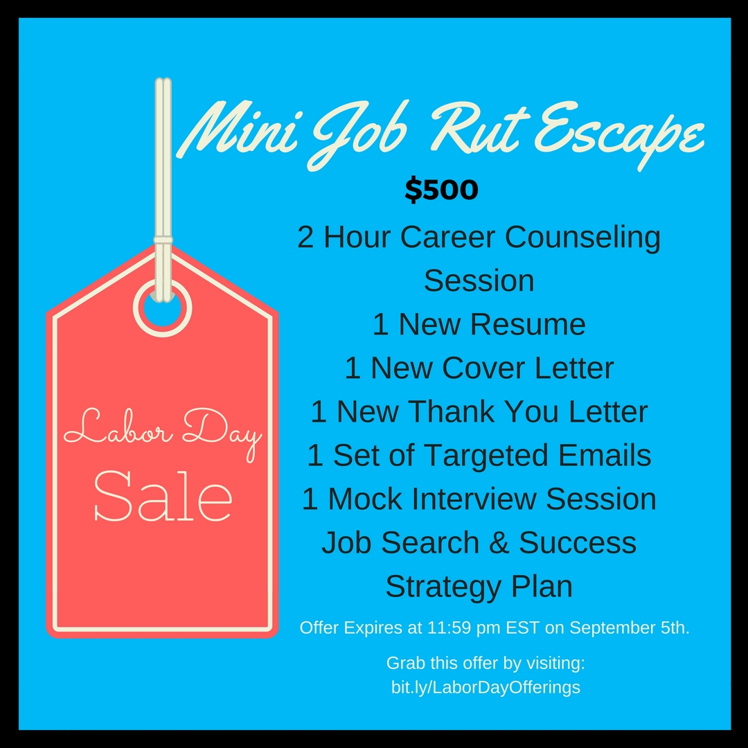 Mini Job Rut Escape Labor Day Package