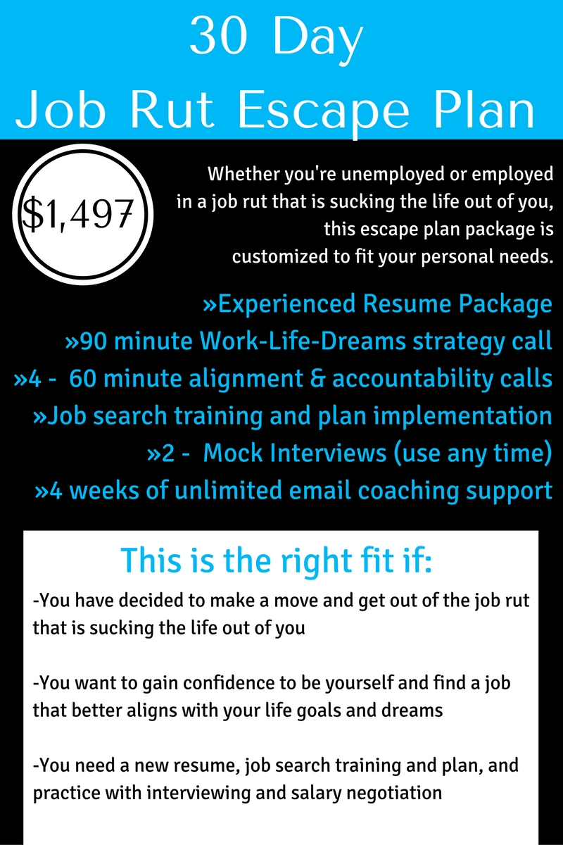 30 day job rut escape plan